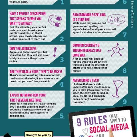 9 rules that apply to social media & online dating
