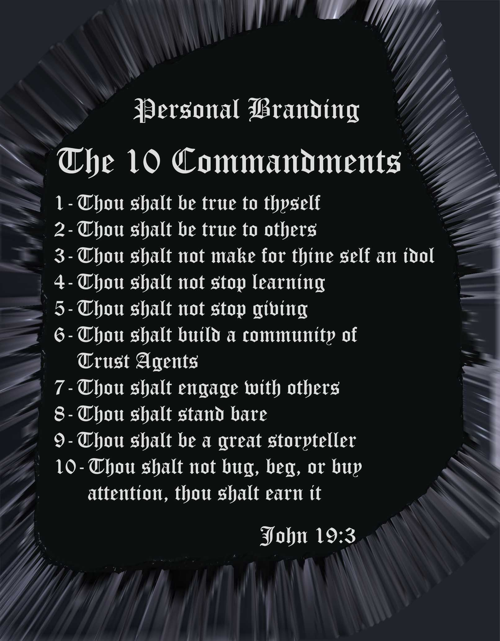 10 Commandments of Personal Branding
