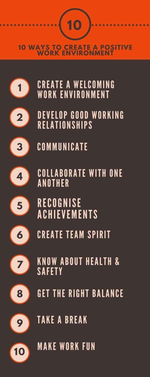 10 Ways to Create a Positive Work Environment
